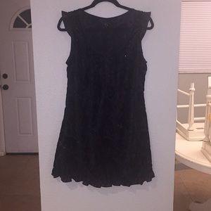 A medium black formal dress